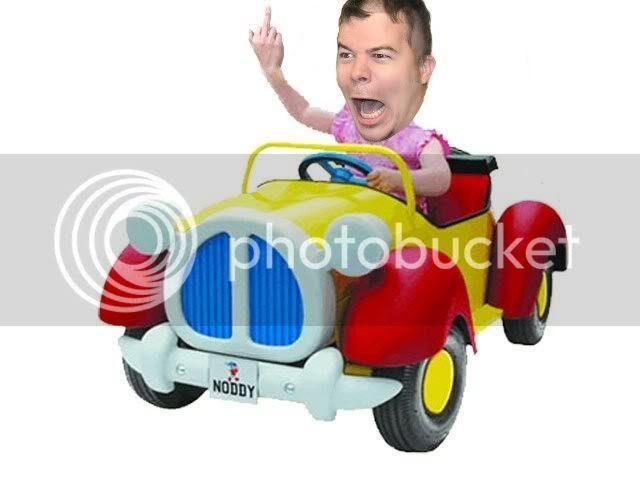 noddy pedal car flip
