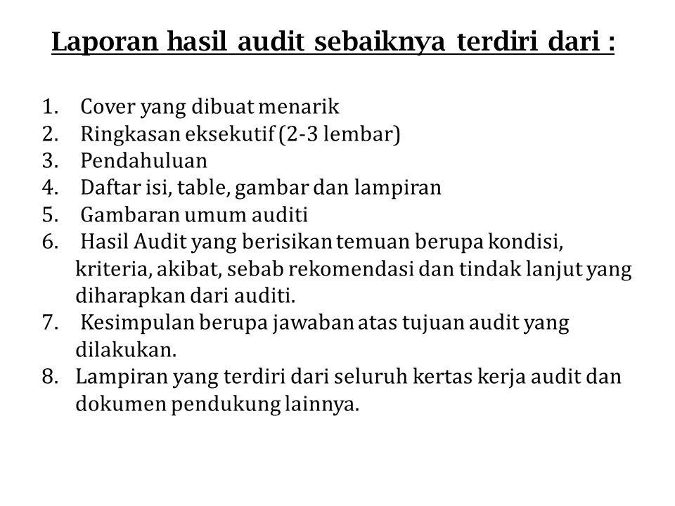 Contoh Laporan Hasil Audit Internal Bank Kumpulan Contoh Laporan