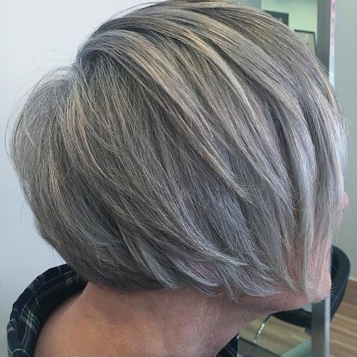 layered bob for older women