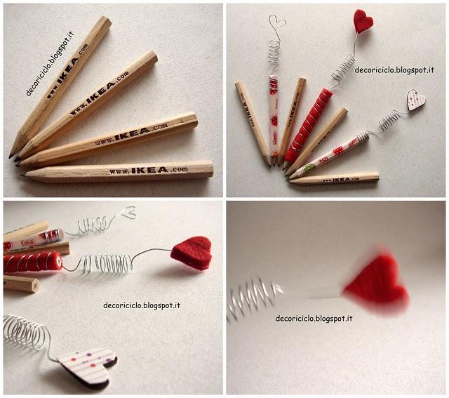 Collage matitine con cuoricini