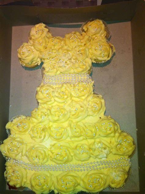 Wedding dress pull apart cake!   Princess/Wedding dress