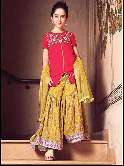 Kids Fancy dresses 2016 in Pakistan yellow