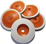 タクミスイッチ (Takumiswitch) フェルトディスク フェルトバフ 5枚 10枚 ディスク グラインダー 鏡面 加工 研磨 (5個セット)