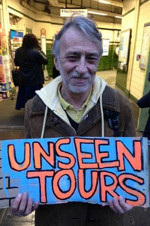 Mike, um dos guias do Unseen Tours, em Londres (Foto: Unseen Tours/Divulgação)