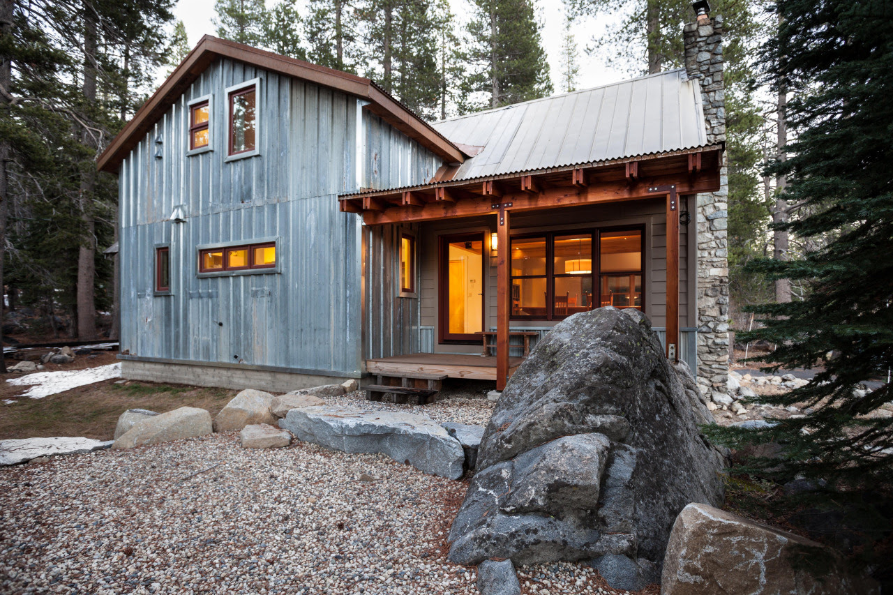 metal siding on a cabin