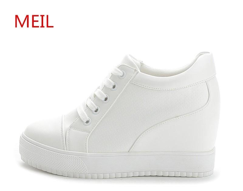 Tacón Comprar Zapatos Cuña De Blancas Negras Zapatillas Ocultas UzSpMV