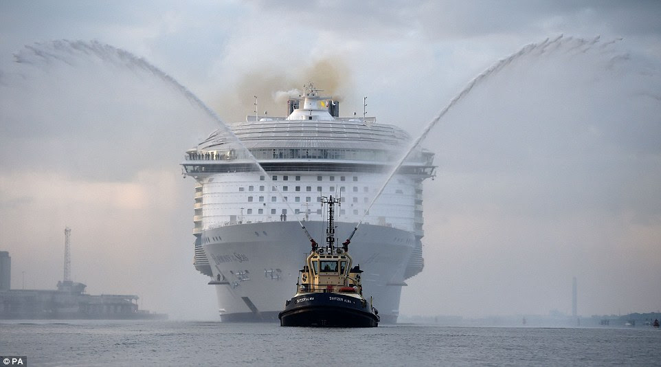 Be Informed The 1billion Boat Arrives In Britain Worlds Biggest Cruise Sh