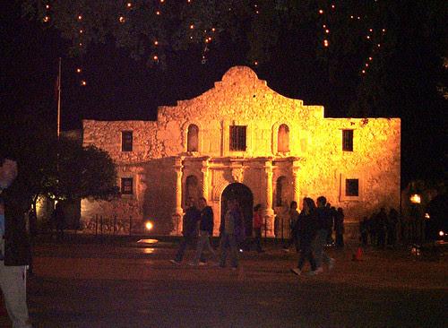 Alamo at night. Christmas 2005