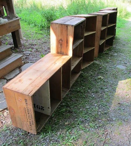 crates in a row