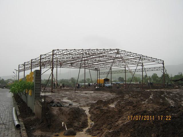 Preparation of a launch event at Mont Vert Vesta Urawade Pirangut Pune 412 108