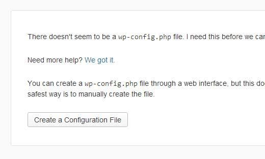 WordPress Setup Step 1