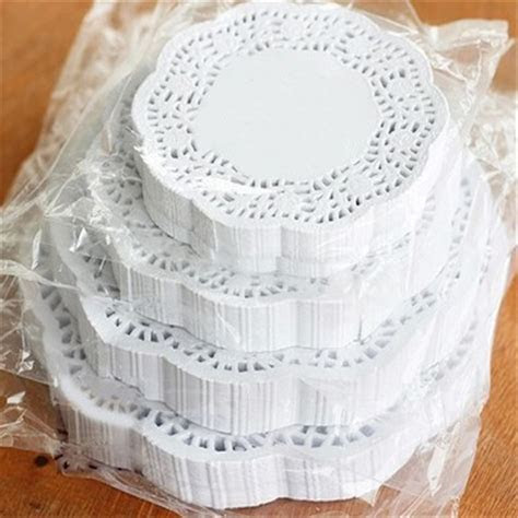 Lace Round Paper Doilies Cake Placemat Craft Vintage