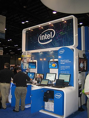 Intel Booth at 2008 Microsoft TechEd.