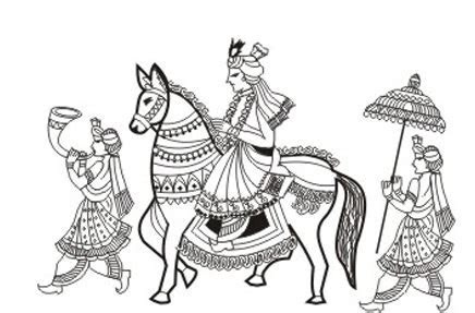 Indian clipart baraat   Pencil and in color indian clipart