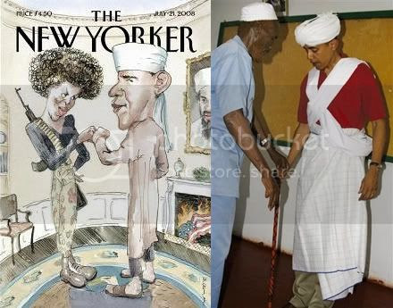 New Yorker and Muslim garb