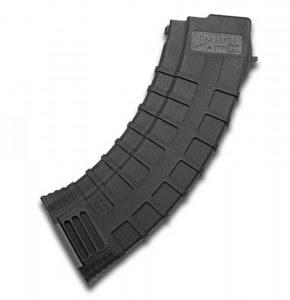 Curved, black 30-round AK-47 magazine TAPCO