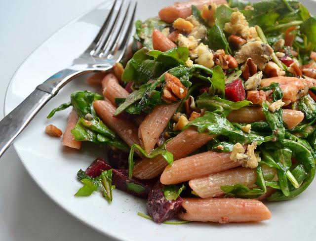 Warm Pasta & Arugula Salad