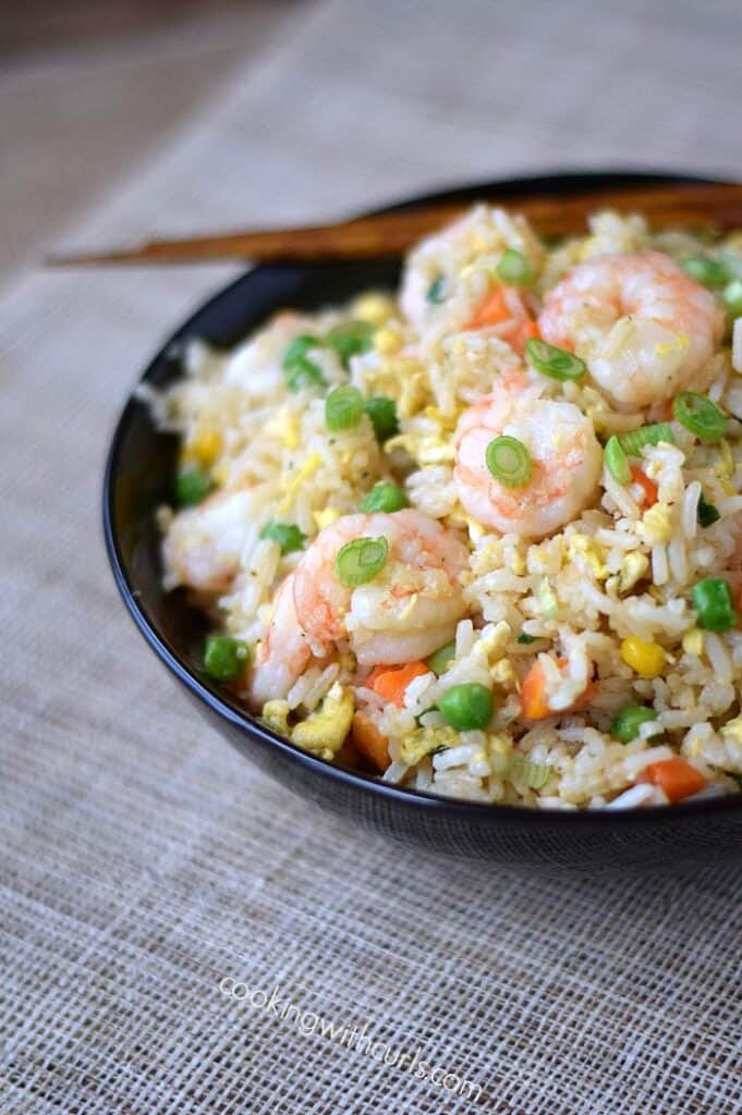 Shrimp Fried Rice, better than takeout cookingwithcurls.com