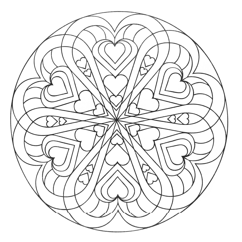 Mandala A Colorier Gratuit Attrape Reve De Valentin Auto