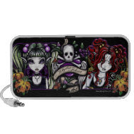 Gothic Skull Fairies Rock Tattoo Doodle Speaker doodle