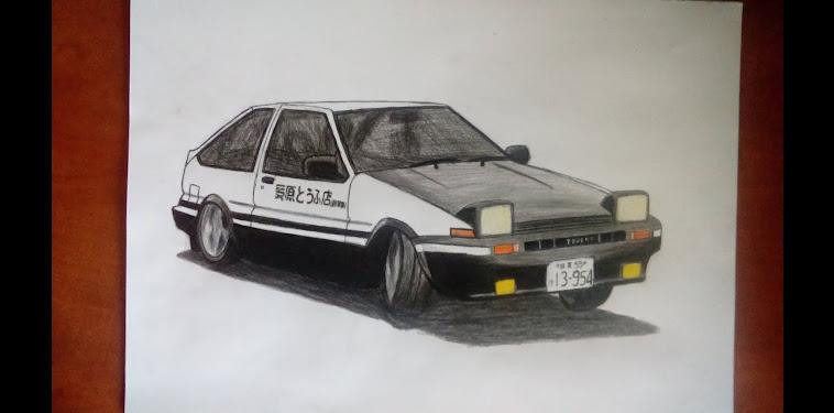 Initial D Ae86 Drift Drawing