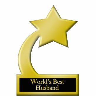 World's Best Husband, Gold Star Award Trophy Photo Cut Outs