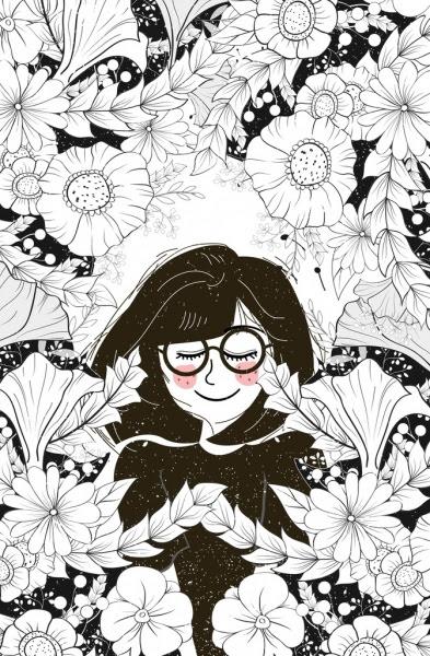 Unduh 820 Gambar Dekoratif Bunga Hitam Putih Gratis