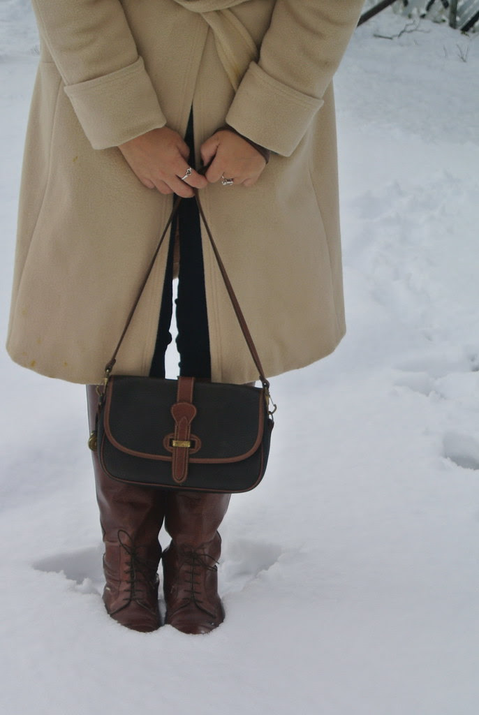 First Snow + Outfit Post.