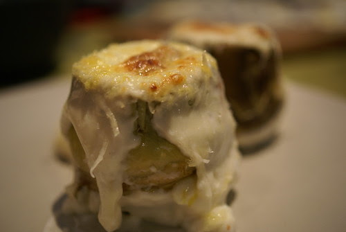 Carxofes amb foie