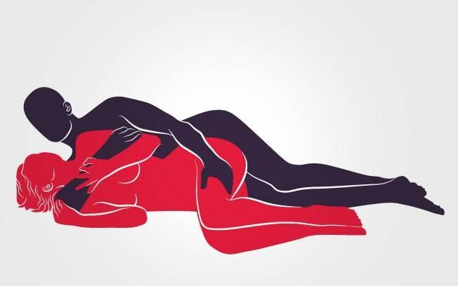 41: DE LADINHO: De lado, ele abraça a parceira carinhosamente e penetra por trás . Foto: Renato Munhoz (Arte iG)