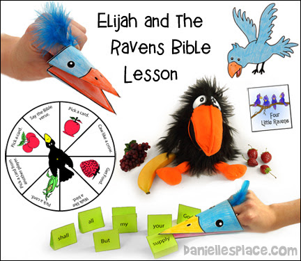 Free Sunday School Lesson For Children Elijah And The Raven