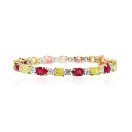 Ruby, Diamond And Yellow Sapphire Gold Bracelet Bengal By ; Leibish & Co Handmade - Jewelry - Vintage - Art - Gift - Community - Google+