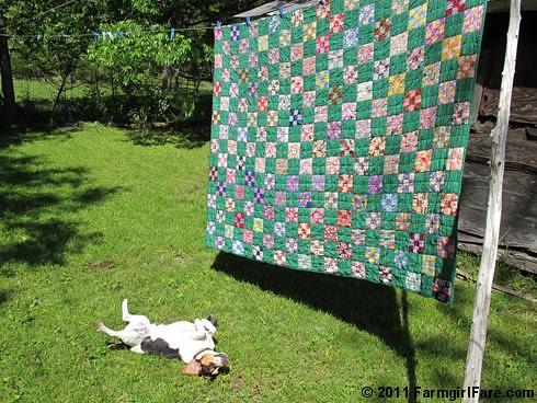 Green Vintage Quilt Love 1 - FarmgirlFare.com