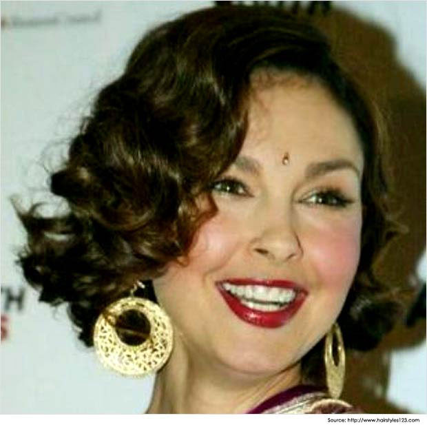 45 Hairstyle For Short Curly Hair On Saree New Concept
