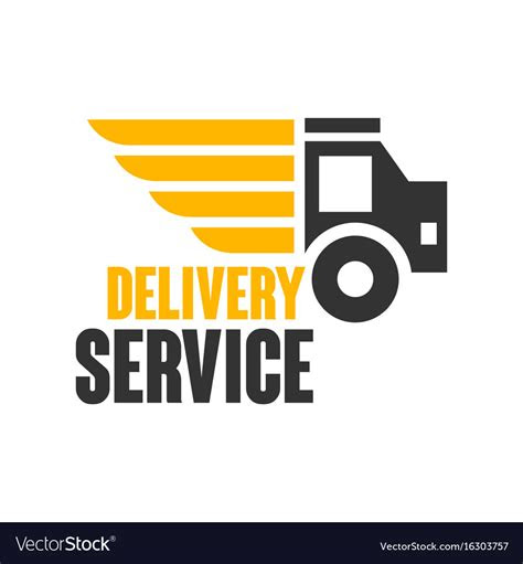 delivery service logo design template royalty  vector