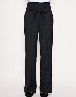 Image 4 of ASOS Paperbag Wide Leg Pant