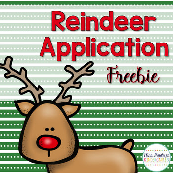 Santa's Reindeer Application Freebie