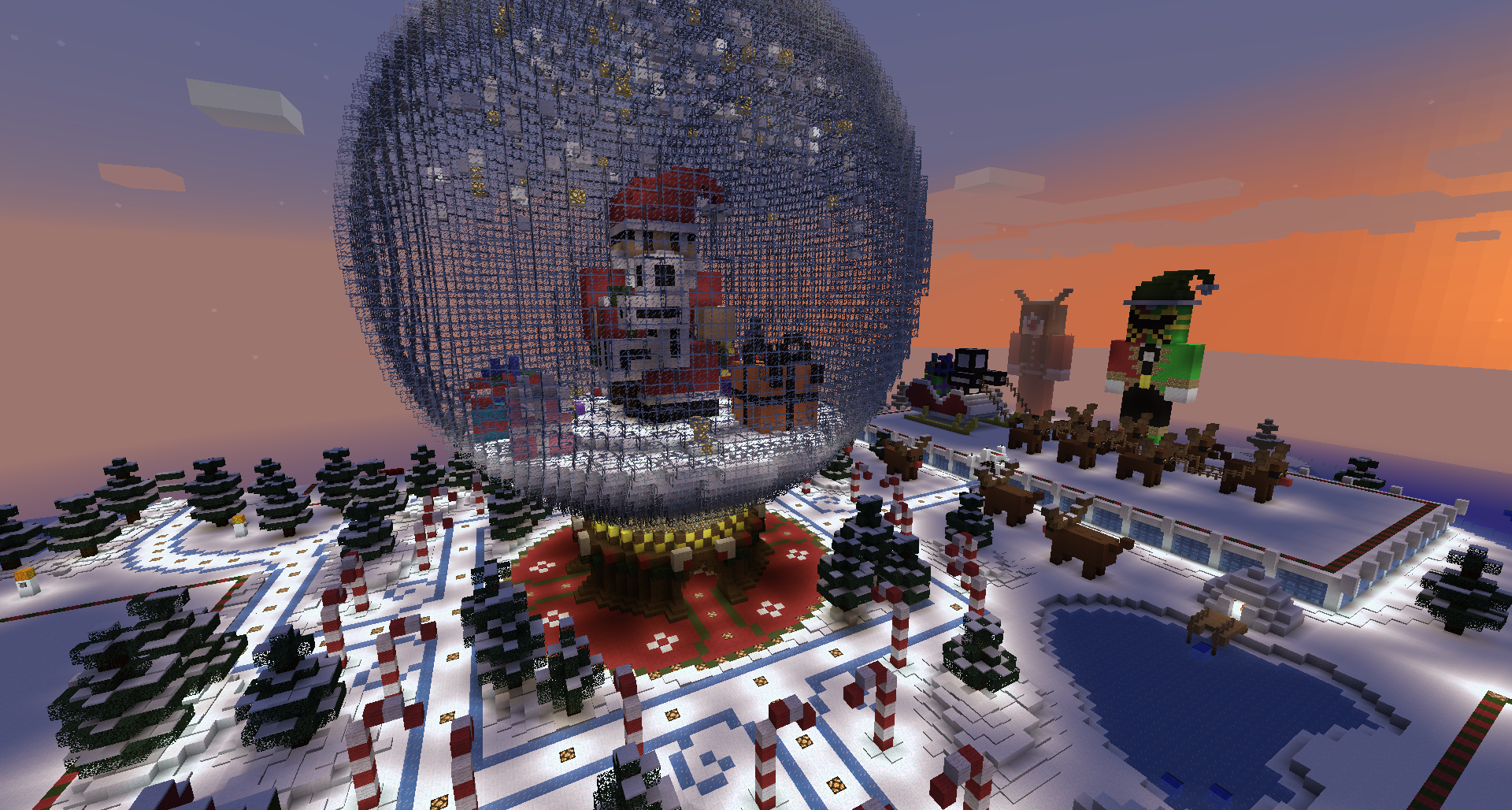 The centrepiece for my servers Christmas Build Contest ...