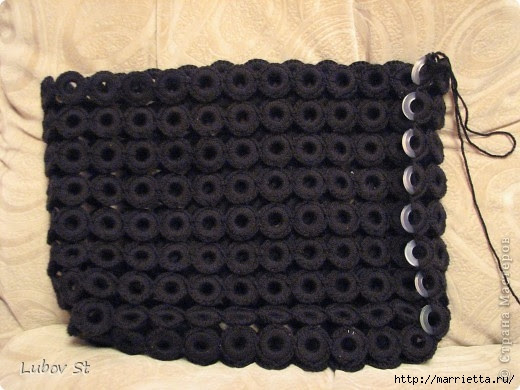 Handbag of the rings with beads.  Crochet without interrupting the thread (12) (520x390, 135Kb)