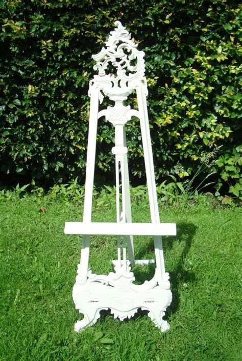 Wedding seating plan easel picture stand painted Farrow