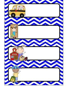 Editable} Daily Schedule Cards - Primary Color Chevron | Daily ...