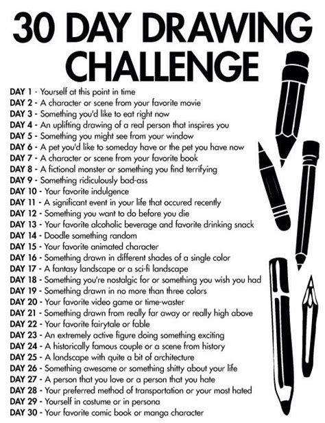 day drawing challenge challenges  day drawing