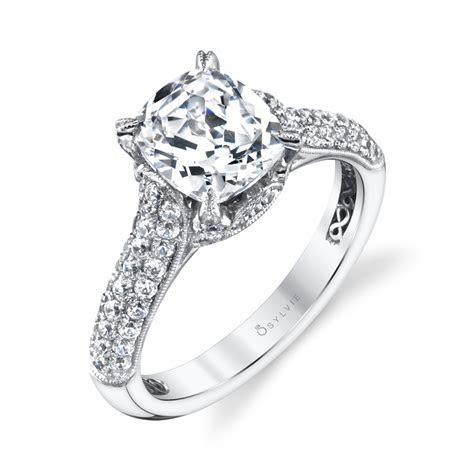 Raegan   Unique Cushion Cut Engagement Ring   Sylvie