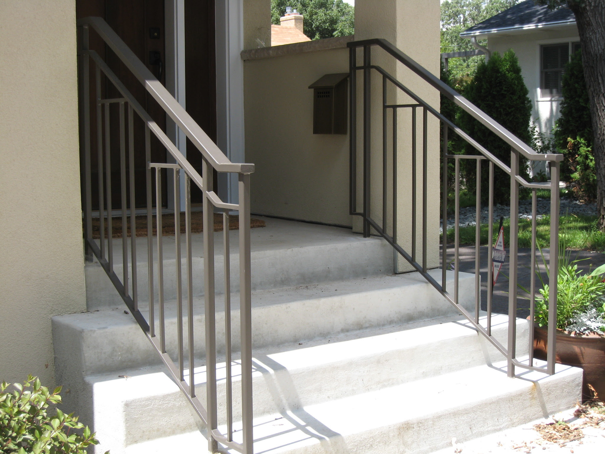 Exterior Step Railings | O'Brien Ornamental Iron