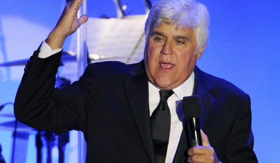 Comedian Jay Leno performs during the 2014 Carousel of Hope Ball at the Beverly Hilton Hotel in [Beverly Hills, Calif., Oct. 11, 2014. (Associated Press) ** FILE **
