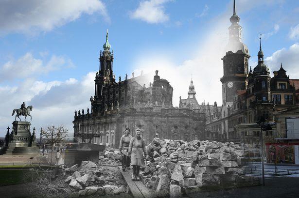 Dresden antes e depois