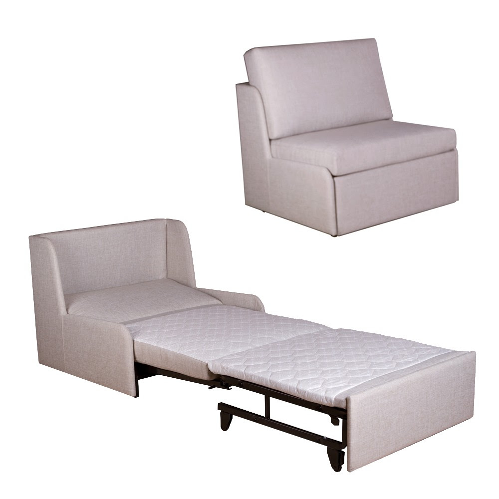 modern minimal white couch that turn into bed design with metal recliner and soft backrest