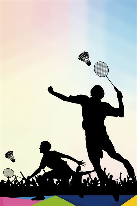Badminton Recruit New Posters Background Material