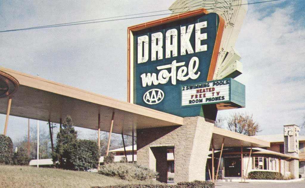 The cardboard america motel archive drake motor lodge for Electric motors nashville tn