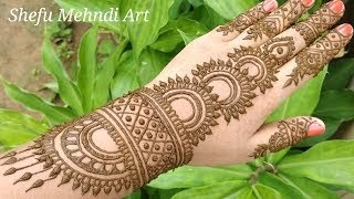 shefu mehndi mehandi design arabic back hand